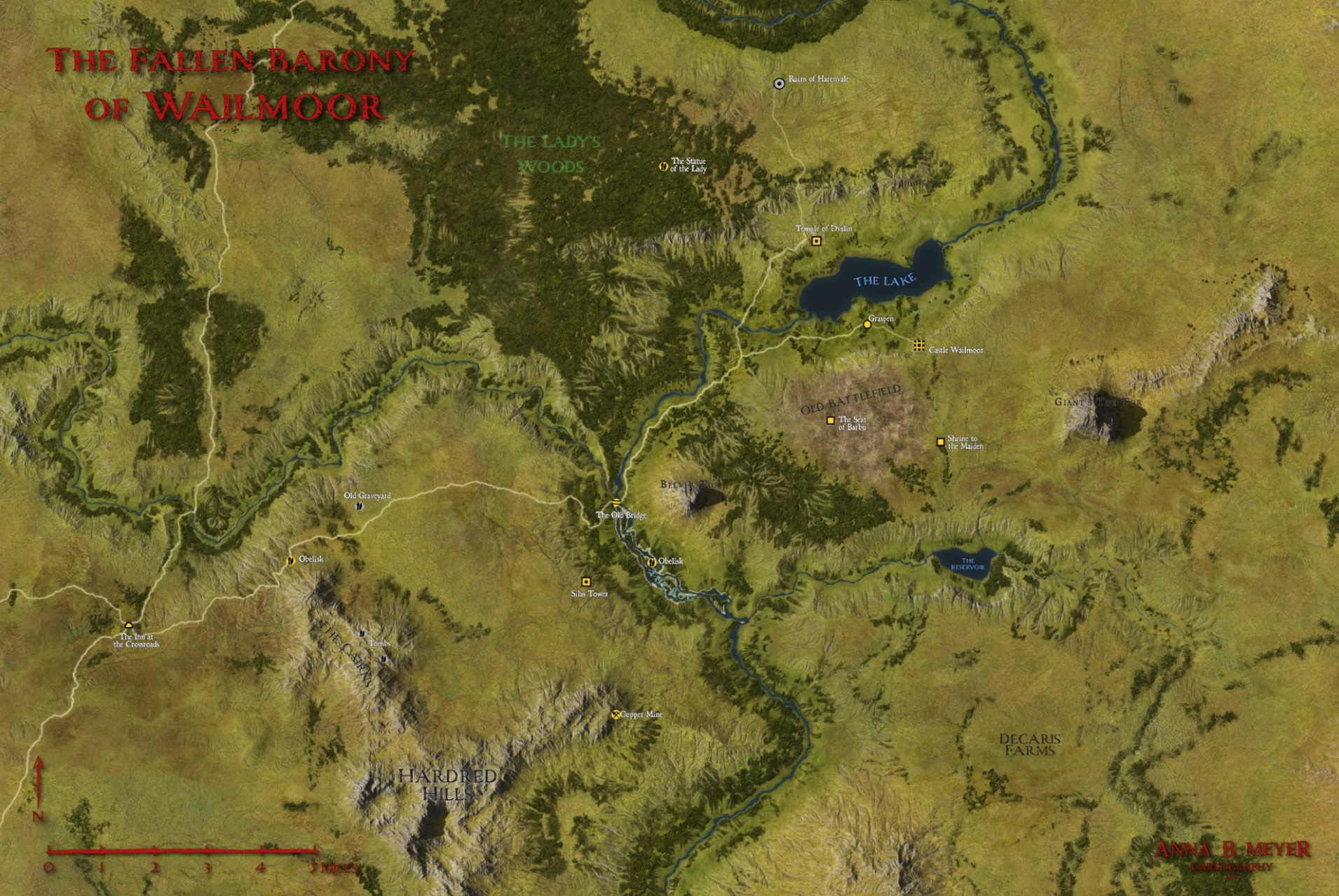 Wailmoor Map